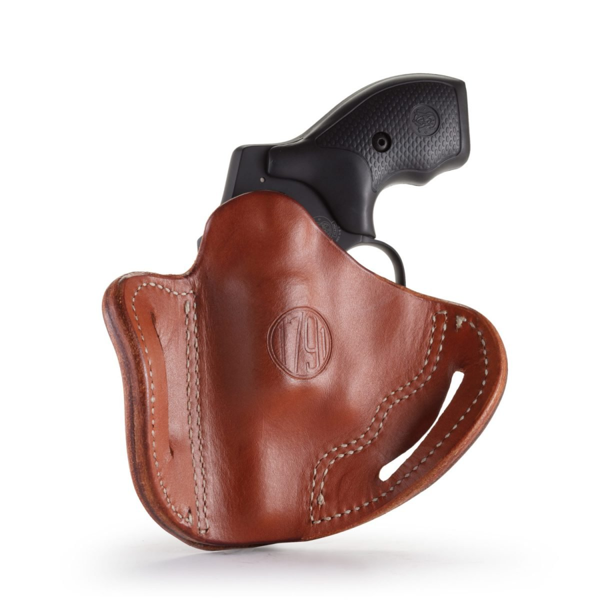 "S/&W J Frame 2/"" Revolver Leather Gun Holster Left Hand Black U.S.A."