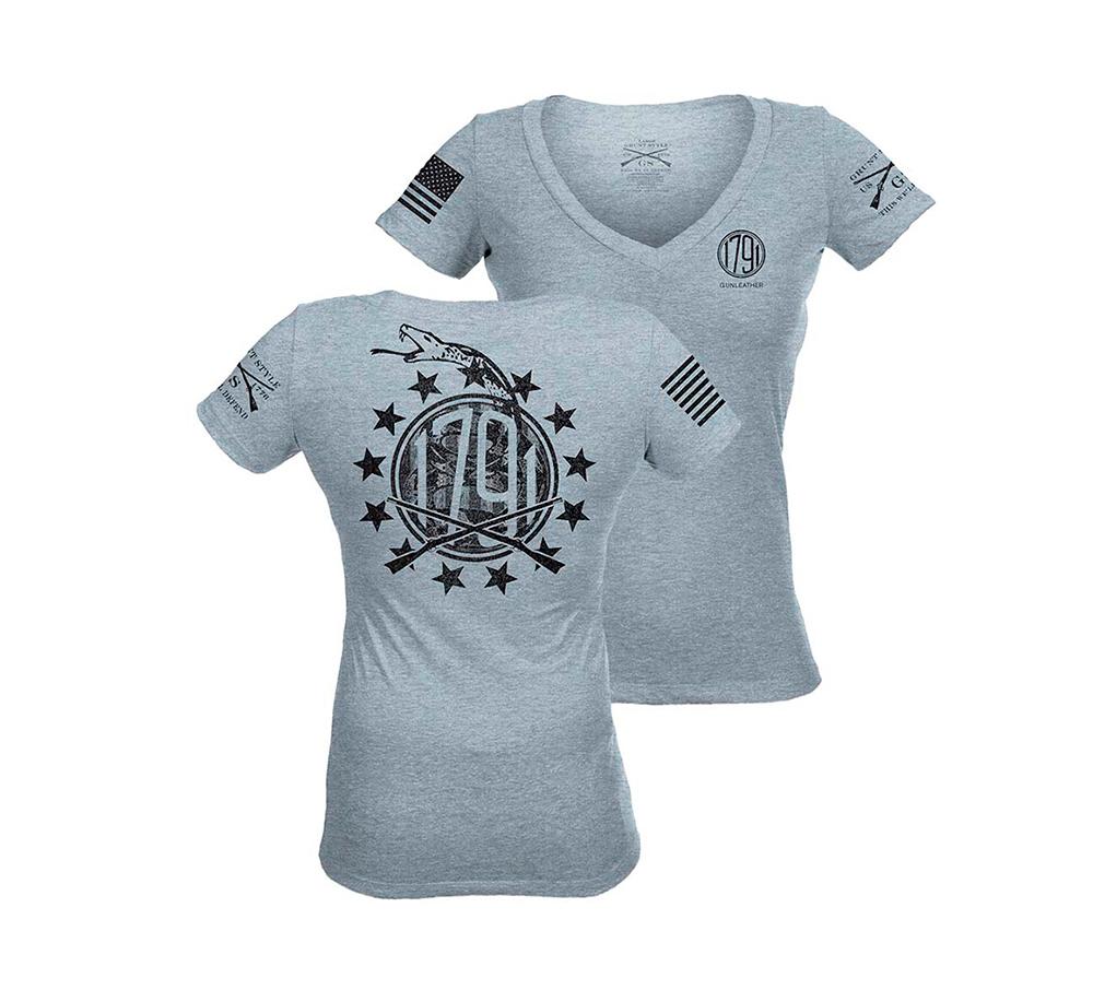 1791 Gunleather T Shirt By Grunt Style Grey 1791 Gunleather