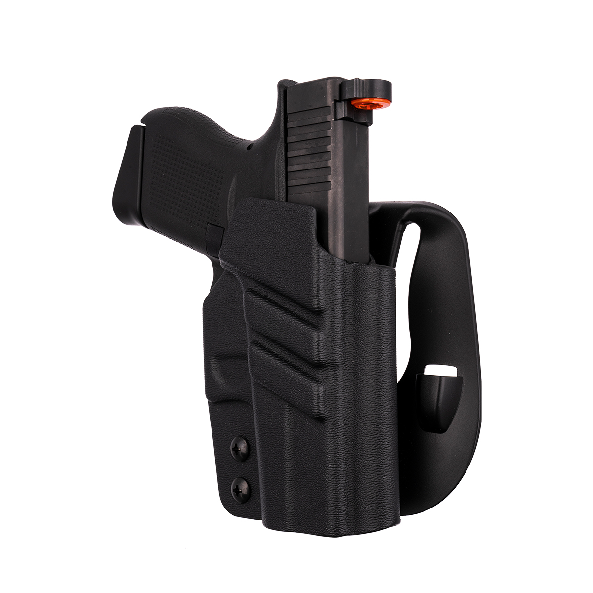 """Leather Paddle Holster Open Top Fits Glock 43X Subcompact 9mm 3.41/""""BBL #1491#"""